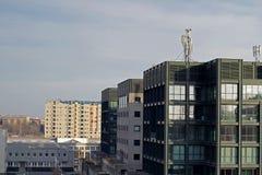 Fine dell'orizzonte della città su Fotografie Stock Libere da Diritti