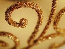 Scintillio dell'oro di festa Fotografie Stock Libere da Diritti