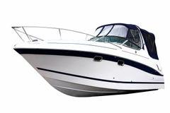 Fine della barca di potenza Fotografie Stock