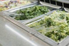 Fine della barra di insalata su Fotografia Stock Libera da Diritti