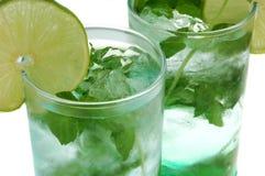 Fine della bevanda lunga di Mojito in su Fotografia Stock Libera da Diritti