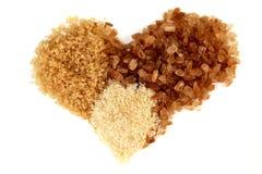Cuore dello zucchero di Brown Fotografia Stock