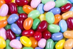 Fine della caramella dei fagioli di gelatina in su Fotografie Stock