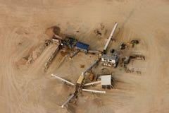 Fine della cava della sabbia in su Fotografia Stock Libera da Diritti