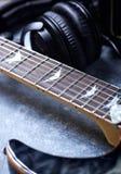 Fine della chitarra elettrica in su immagini stock