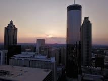 Fine della città di Atlanta su dal fuco immagine stock libera da diritti