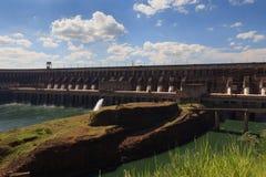 Fine della diga di Itaipu, Brasile, Paraguay Fotografia Stock Libera da Diritti