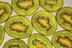 Fine della frutta di Kivi su come fondo Fotografia Stock Libera da Diritti
