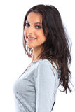 Fine della giovane donna sul ritratto Fotografia Stock
