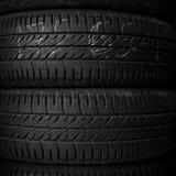 Fine della gomma di automobile su Fotografia Stock