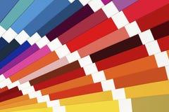 Fine della guida della tavolozza di colore su Catalogo variopinto del campione fotografia stock libera da diritti