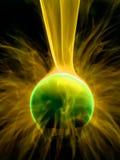 Fine della lampada del plasma in su immagine stock