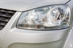 Fine della lampada dell'automobile su Fotografia Stock