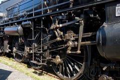 Fine della locomotiva di vapore in su Fotografie Stock Libere da Diritti
