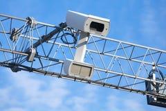 Fine della macchina fotografica di applicazione di traffico sulla foto fotografia stock libera da diritti