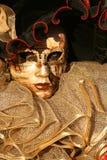Fine della mascherina di Carnivale in su Immagine Stock Libera da Diritti