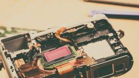 Fine della matrice del sensore della macchina fotografica su Immagini Stock Libere da Diritti