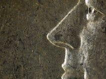 Fine della moneta da 50 centesimi su Immagini Stock Libere da Diritti