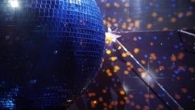 Fine della palla della discoteca dello specchio su stock footage