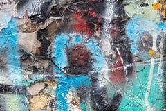 Fine della parete dei graffiti su immagine stock