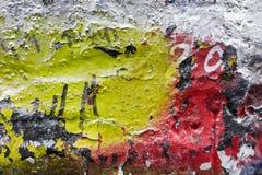 Fine della parete dei graffiti su immagini stock