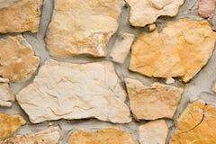 Fine della parete di pietra in su Immagine Stock Libera da Diritti