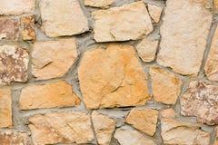 Fine della parete di pietra in su Fotografia Stock