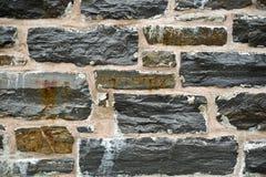 Fine della parete di pietra in su Immagine Stock
