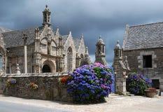 Fine della parrocchia in Bodilis in Brittany Fotografia Stock Libera da Diritti