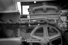 Fine della parte del trattore a cingoli del trattore su Fotografie Stock Libere da Diritti