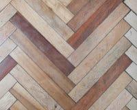 Fine della pavimentazione del parquet su Fotografie Stock