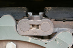 Fine della pista del serbatoio in su Fotografia Stock