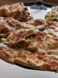 Fine della pizza fotografia stock libera da diritti