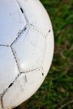 Fine della sfera di calcio in su Fotografie Stock