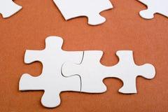 Fine della soluzione del puzzle in su Immagine Stock Libera da Diritti