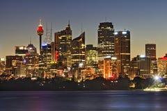 Fine della torre di Sydney CBD Cremorne Fotografie Stock