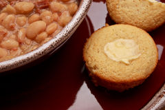 Fine della zuppa di fagioli Fotografia Stock