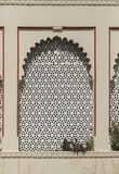 Fine designs on a window at City Palace,Udaipur,Rajasthan,India. Asia royalty free stock image
