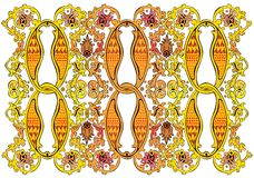 Fine detailed indian pattern. Vector indian ornate gold pattern Royalty Free Stock Images