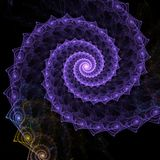 Fine fractal rendering. Fine and detailed rendering of an abstract spiral fractal Royalty Free Stock Photos