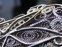 Fine details on iron fence. Filigree Stock Photo