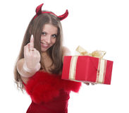 Fine devil royalty free stock photography