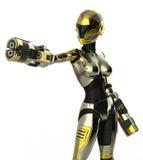 Fine di attacco del soldato del Bot su Fotografia Stock