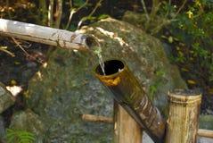 Fine di bambù della fontana Fotografie Stock
