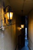 Fine di buio a Edimburgo, Scozia Immagini Stock Libere da Diritti