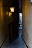 Fine di buio a Edimburgo, Scozia Fotografie Stock Libere da Diritti