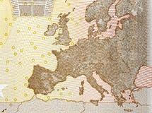 Fine di Europa della mappa su Fotografie Stock Libere da Diritti