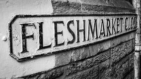 Fine di Fleshmarket Immagini Stock