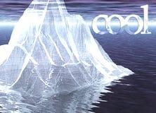 Fine di galleggiamento dell'iceberg in su con il messaggio freddo Fotografie Stock Libere da Diritti