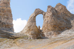 Fine di L'Aiguille Percee su Fotografie Stock Libere da Diritti